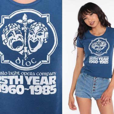 Diablo Theatre Company Shirt Walnut Creek California Graphic Tee Retro T Shirt 80s Vintage Theater Tshirt Opera T Shirt 1980s Small Medium by ShopExile