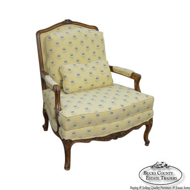 Sherrill French Louis XV Style Fauteuil Lounge Chair by BucksEstateTraders
