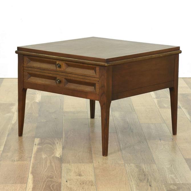 Mid Century Modern End Table W Storage