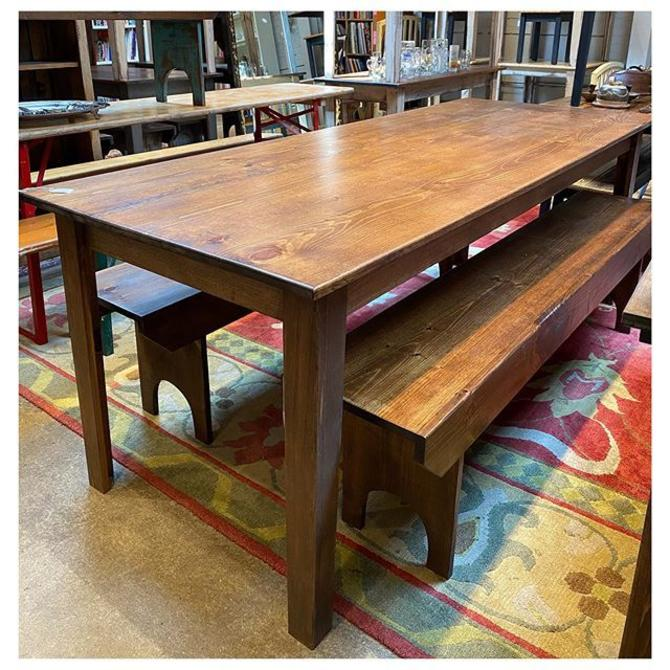"7 foot Shenandoah pine dining table 84"" long / 32.5 wide / 30.5"" tall"