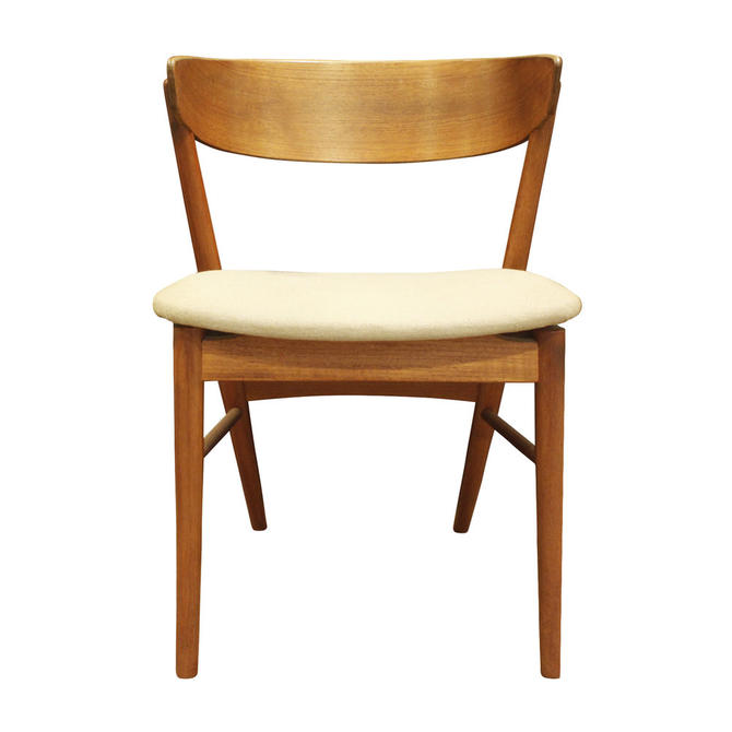 Hand Crafted Teak Danish Desk Chair 1950s (signed)