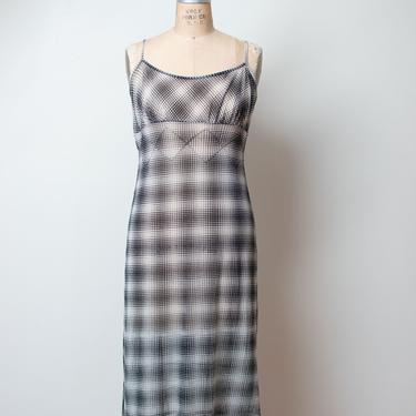 1990s Plaid Mesh Dress | Vivienne Tam by FemaleHysteria