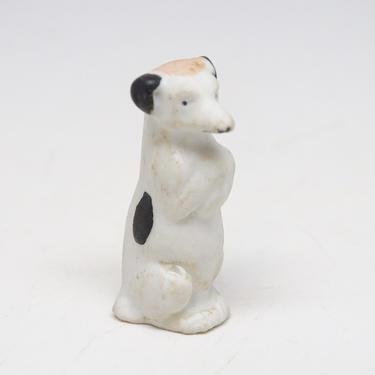 Antique Miniature German Puppy Dog, Hand Painted Porcelain, Vintage Christmas Nativity Putz or Creche, Farm Toy, Doll House by exploremag