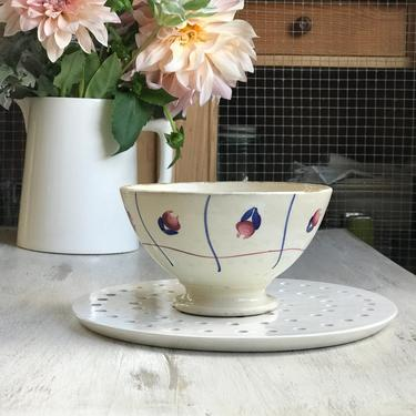 Lovely vintage French ironstone cafe au lait bowl by Grainsacfrenchvintag
