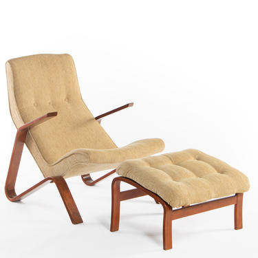 Grasshopper Chair and Ottoman by Eero Saarinen for Knoll, USA by ABTModern