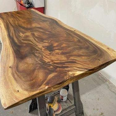 Live Edge Walnut Dining Table - Live Edge Desk by UmbuzoRustic