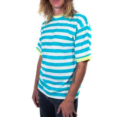 Oasis Turquoise Striped 90s T