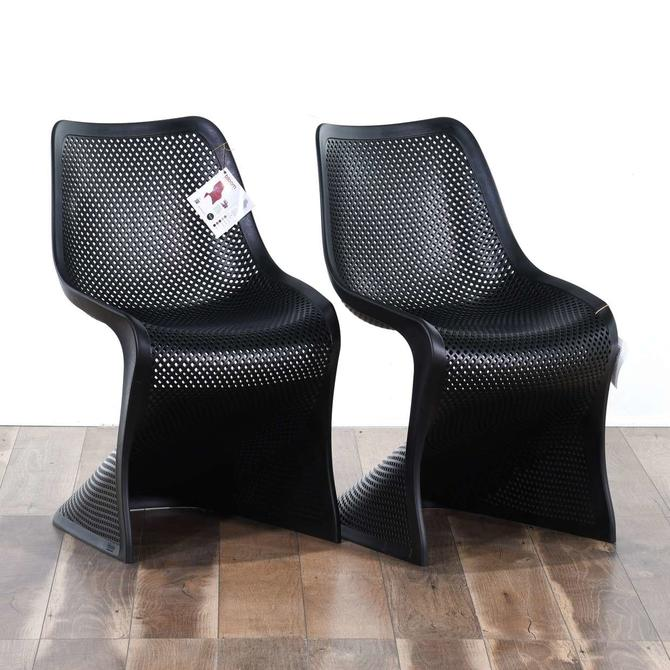 Pair Of Compamia Bloom Dining Chairs In Black
