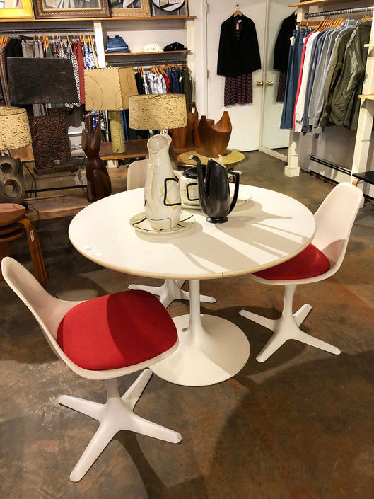 Burke Tulip Table and 3 Chairs -Mint by bcdrygoods