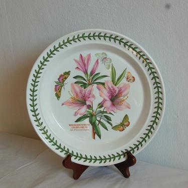"Vtg Portmeirion Botanic Garden, Susan Williams-Ellis, Lily Flowered Azalea, 10.25"" Dinner Plate ~ Made in Britain ~ Excellent Condition by YesterdayAndTomorrow"