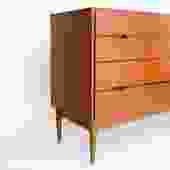 Danish Modern 8 Drawer Dresser in Teak Dresser by M Dixen