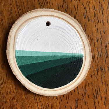 Hand Painted Wooden Ornament - Serenity by SalvadordALIA