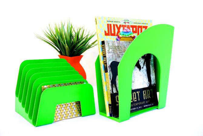 Lime Green W Envy Desk Organizer Set