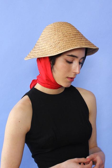 Straw Scarf Hat