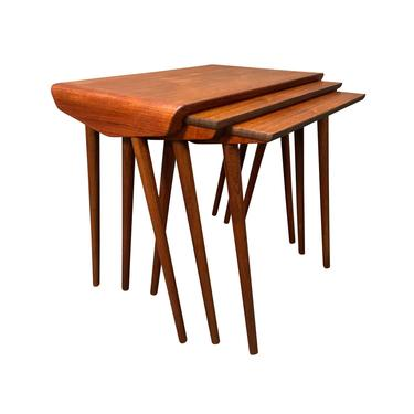 Vintage Danish Mid Century Modern Teak Nesting Tables. by AymerickModern