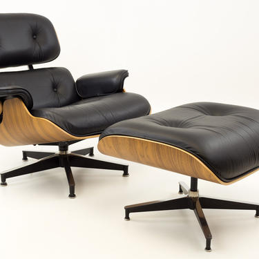 Eames for Herman Miller Mid Century Lounge Chair in Walnut with Ottoman - mcm by ModernHill