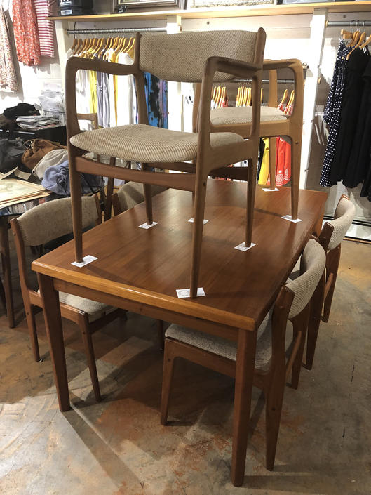 BRDR Furbo Danish Modern Dining Set with 6 Chairs Near Mint Condition Extendable by bcdrygoods