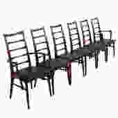 Set of 6 Koefoed Hornslet Danish Modern Rosewood Dining Chairs