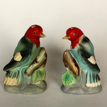 vintage enesco woodpecker salt and pepper shakers/made in japan by suesuegonzalas