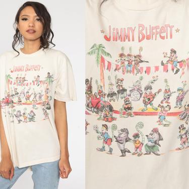 Jimmy Buffet Shirt 1993 Chameleon Caravan Shirt Band Tee Vintage 90s Rock TShirt Concert Tour Promo Shirt Extra Large xl by ShopExile