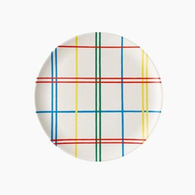 Plaid Bamboo Side Plate