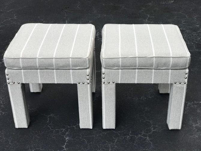 Vintage Billy Baldwin style stools - a pair by HolbrookBazaar
