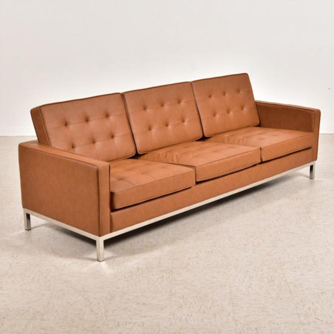 Caramel Vegan Leather Sofa