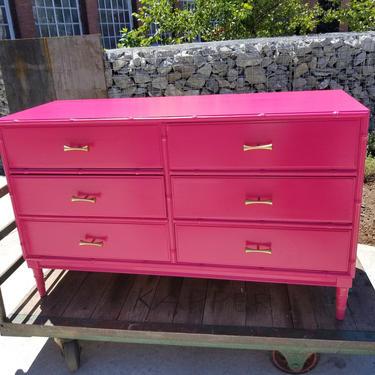 Bright High Gloss Vintage Dresser Dresser, Sideboard, Glam Furniture, Lingerie Dresser, Funky, Eclectic, Boho, Custom Ordered Dresser by JazzySellers
