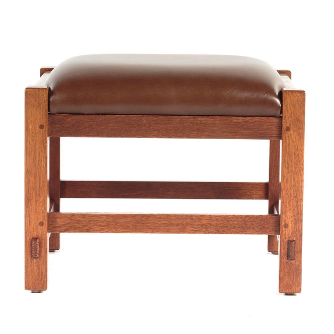 L & G Stickley Mission Style Foot Stool