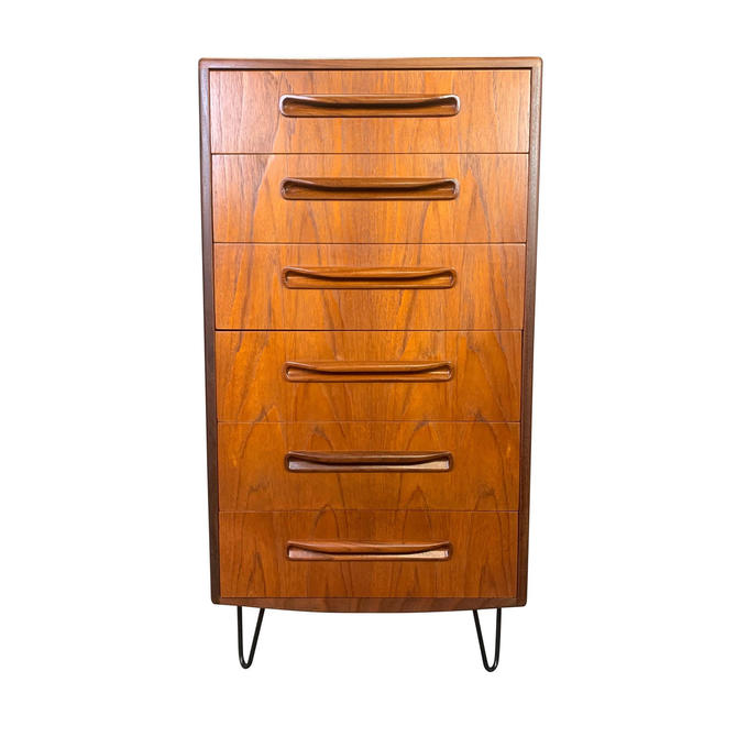 Vintage British Mid Century Modern Teak Highboy Dresser by G Plan by AymerickModern