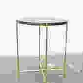FREE SHIPPING Side Table - Solid Walnut and Brass Base by dylangrey