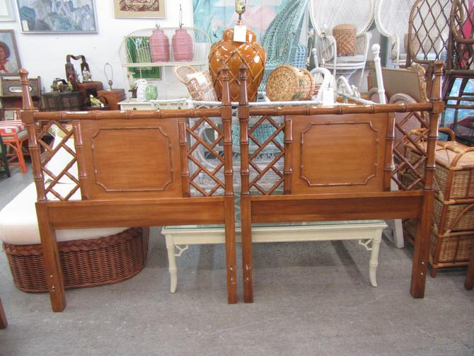 Pair of Chippendale Headboards