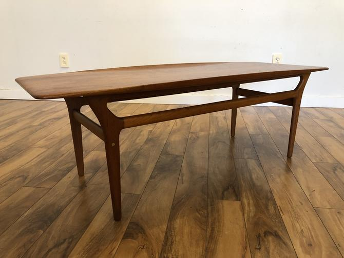Danish Teak Surfboard Coffee Table