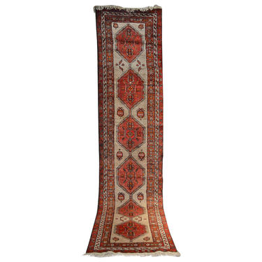 Long Semi-Antique Persian Runner