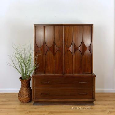 Kent Coffey Perspecta Gentleman's Chest, MCM Dresser, Mid Century Modern Bureau, Storage Armoire Cabinet, Vintage Furniture, Bedroom Set by CaptivaHomeDecor
