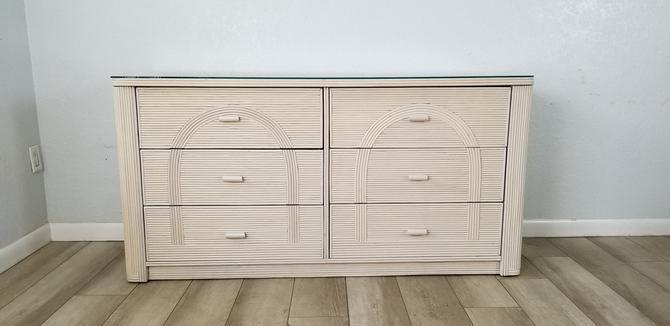 Gabriella Crespi Attribute Pencil Reed Rattan Dresser . by MIAMIVINTAGEDECOR