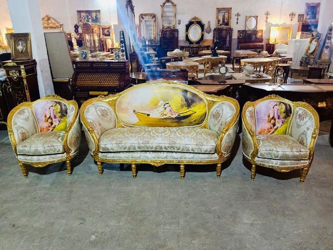 French Chair Vintage Furniture French Settee *3 Piece Available* French Vintage Chair Rococo Furniture Baroque Interior Design by SittinPrettyByMyleen