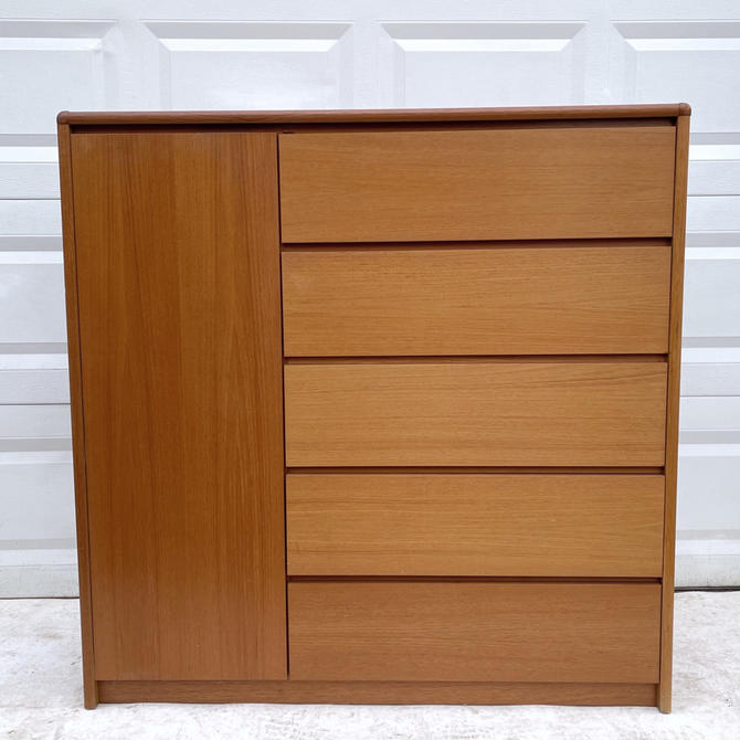 Danish Modern Teak Armoire or Dresser by secondhandstory