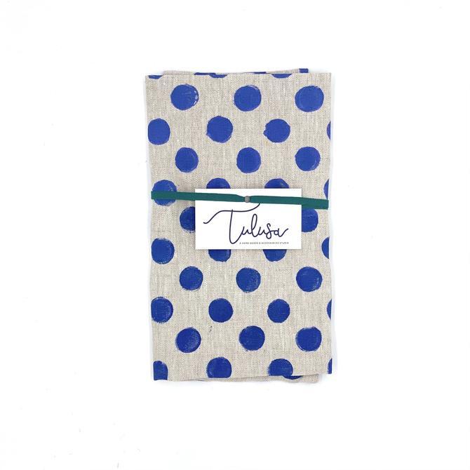 *Linen Tea Towel in Dots (multiple colors)