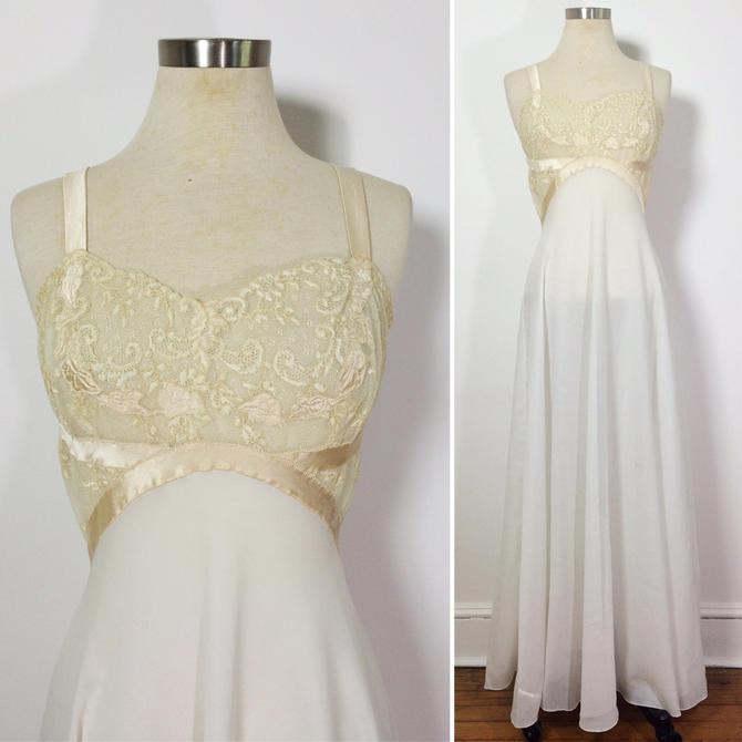 Vintage Lingerie / Vintage Nightgown / White Nightgown / Maxi Dress ...