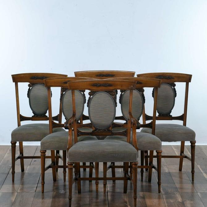 Set Of 6 Carved Federal Style Dining Chairs