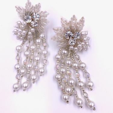 Snowflake Pearl Drop Earring by TheKitVintage