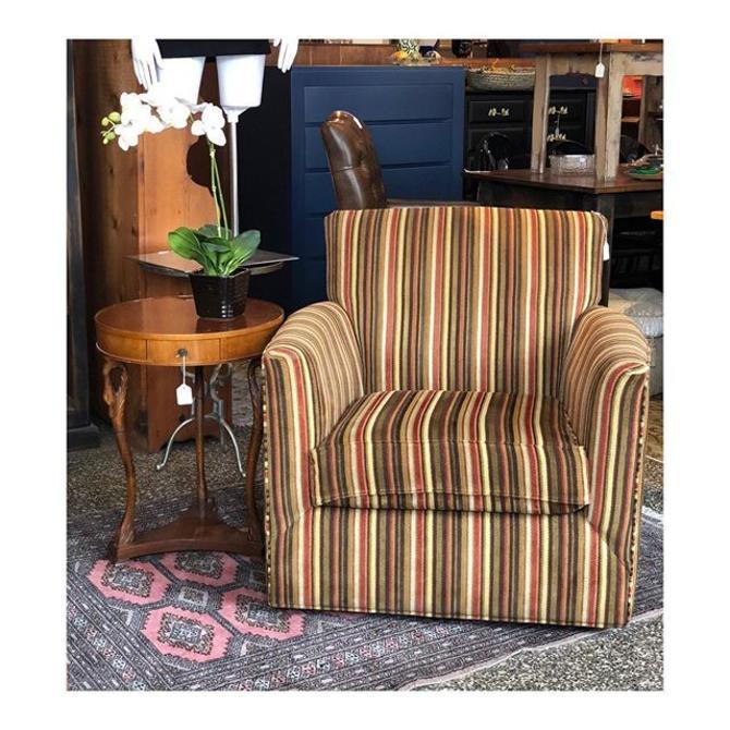 Fun Striped Swivel Chair //