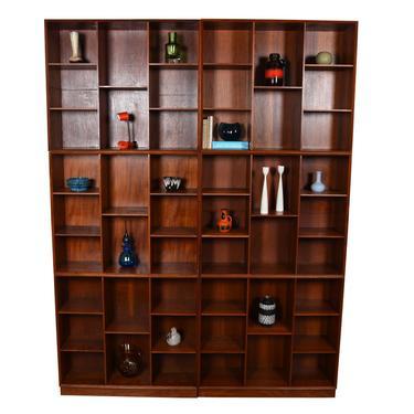 RARE Solid Teak Danish Bookcases by Peter Hvidt  Multiple Configurations