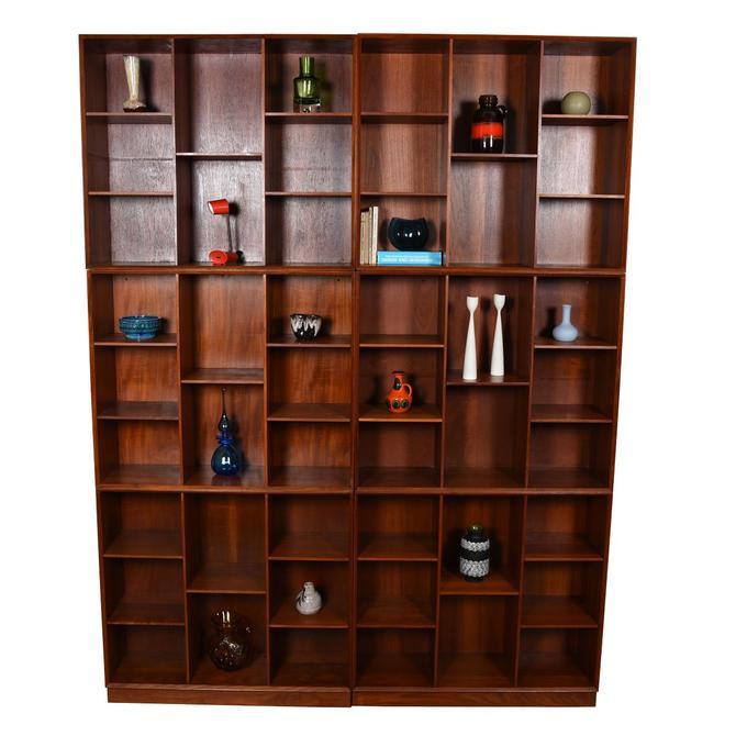 RARE Solid Teak Danish Bookcases by Peter Hvidt – Multiple Configurations