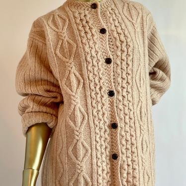 Shetland Wool Cardigan Oversized Gramma Sweater by BeggarsBanquet