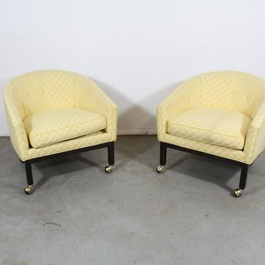 Pair of Mid-Century Modern Club Chairs by Kipp Stewart for Directional by AnnexMarketplace