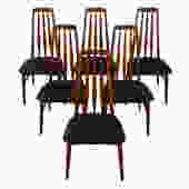 Walnut Set of 6 Koefoeds Hornslet Danish Dining Chairs