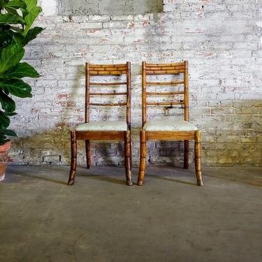 Vintage Rattan Dining Side Chair - Set of 2 by ModandOzzie