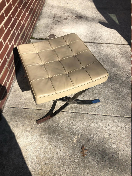 Vintage Barcelona Style Ottoman by bcdrygoods
